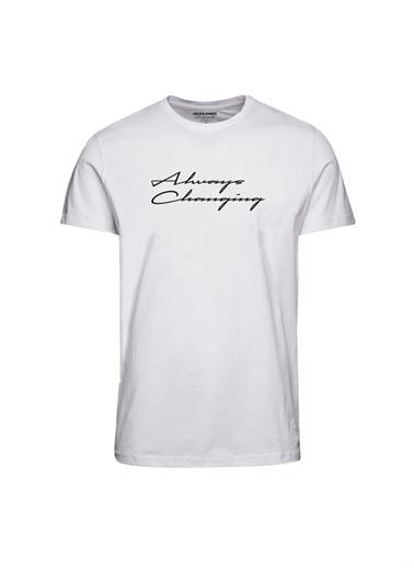 Jack & Jones Jack & Jones 12195793 Beyaz Erkek T-Shirt Beyaz